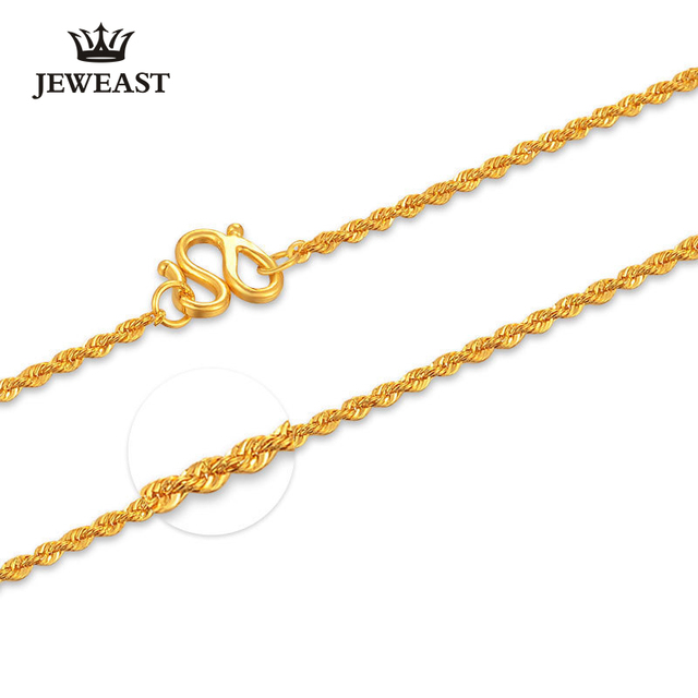 aaaa221939eb3 US $465.0 38% OFF|24K Pure Gold Necklace Real AU 999 Solid Gold Chain  Simple Beautiful Upscale Trendy Classic Party Fine Jewelry Hot Sell New  2018-in ...