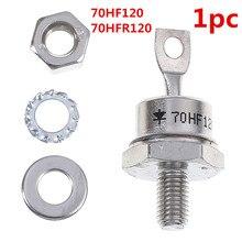 1 шт. высокое качество 70HF120/70HFR120 70A 1200 в высокой мощности выпрямитель металла шпильки Тип выпрямительные диоды аксессуары