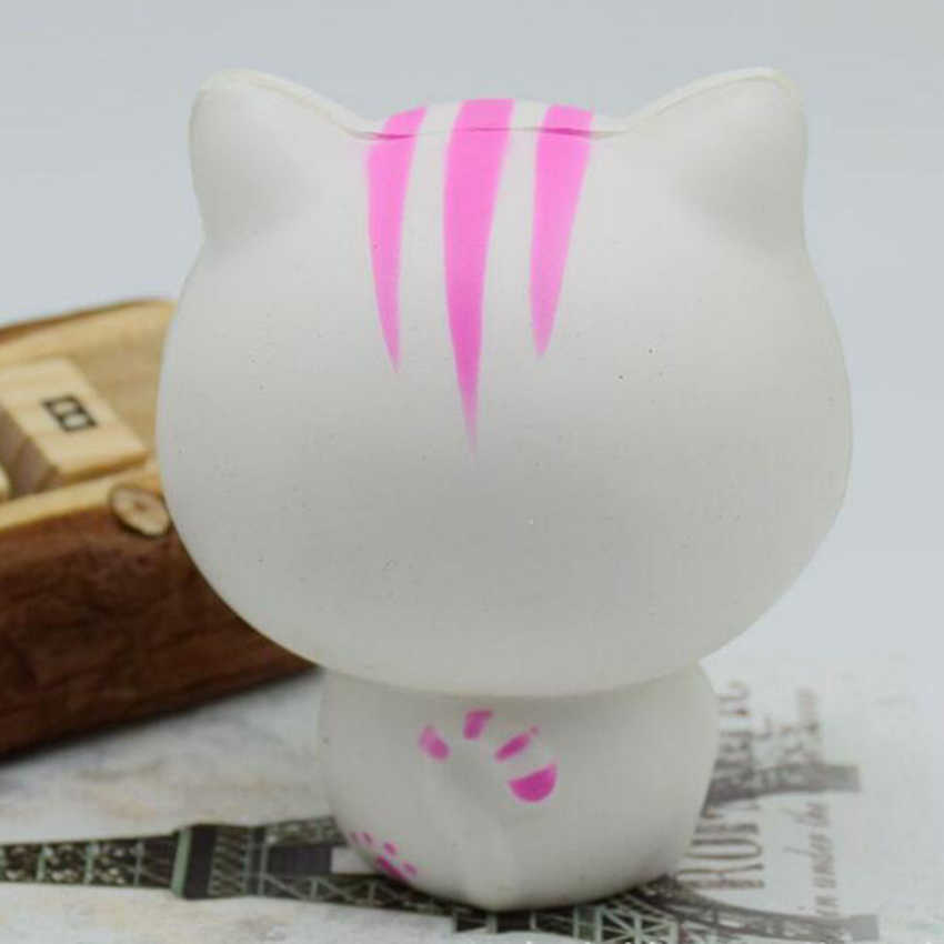 8.5 cm 귀여운 점보 kawaii squishy 천천히 상승 새끼 고양이 캣 고양이 장난감 성인을위한 스트레스 불안 홈 장식을 완화