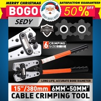 SEDY Cable Lug Crimping Tools Electrician Crimping Clamps Manual Ratchet Terminal Crimping Tools for 6 50mm2 Wire and Cable