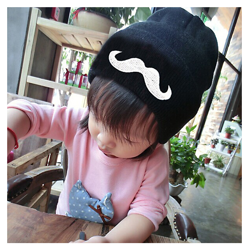 C Sale HOT sales Girl&Boys winter hat Cartoon beard Pattern design bonnet Kids Winter Skullies Beanies Caps for1-3 year children fashion handpainted palm sea sailing pattern hot summer jazz hat for boys