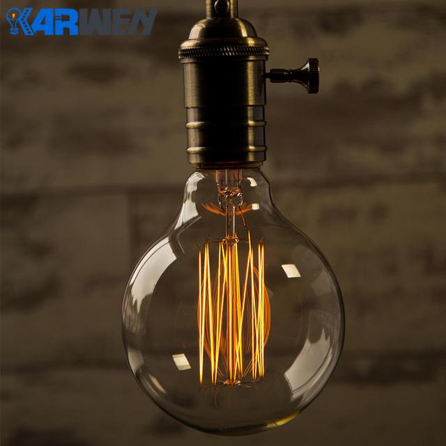 Vintage Edison bombilla E27 lampada retro lámpara bombilla incandescente de 40 W 220 V Edison luz lámpara colgante lámpara Decoración