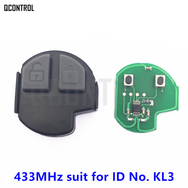 QCONTROL Car Remote Key Inner Internal Core Assebly for SUZUKI SWIFT SX4 ALTO VITARA IGNIS JIMNY Splash 433MHz ID No. KL3
