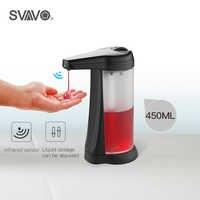 450ml touchless automático dispensador de sabão banheiro cozinha infravermelho inteligente sensor mão livre desinfetante abs dispensador de sabão líquido