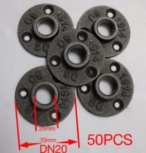 50PCS/LOT  Cast iron Industrial pipes flange wall base pipe support base (-DN20-3/4''Pipe  Hole ID:25MM )