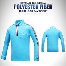 PGM одежда для гольфа Детская Футболка с рукавами для мальчиков дышащий поглощения влаги Высокое тянущаяся одежда Размер S-XL