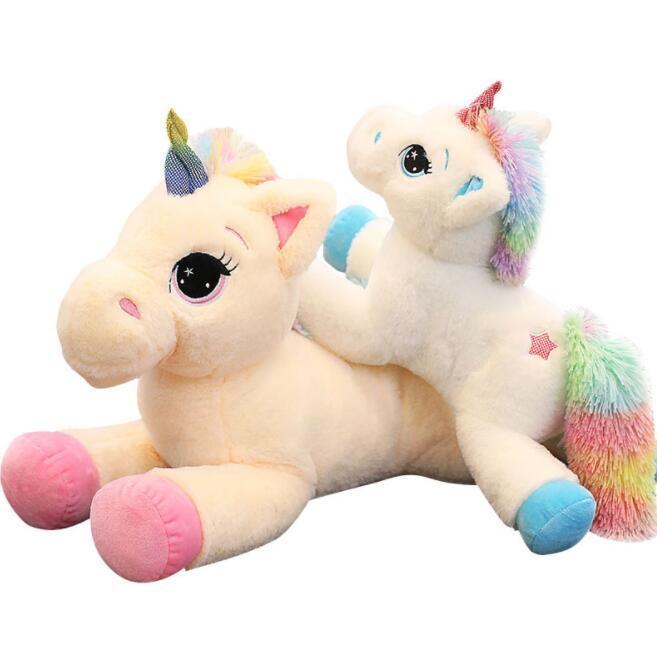 40/60cm Unicorn Stuffed Animal Baby Doll Kawaii Cartoon Rainbow Unicornio Plush Toy For Kid Horse Pillow Christmas Birthday Gift Stuffed & Plush Animals Dolls & Stuffed Toys