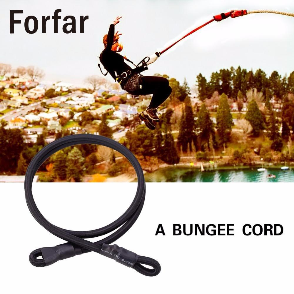 Rock Elastic Climbing Safety Bungee Jumping Rope Belt 10mm Black Children Trampoline Bed Elastic Rope Outdoor