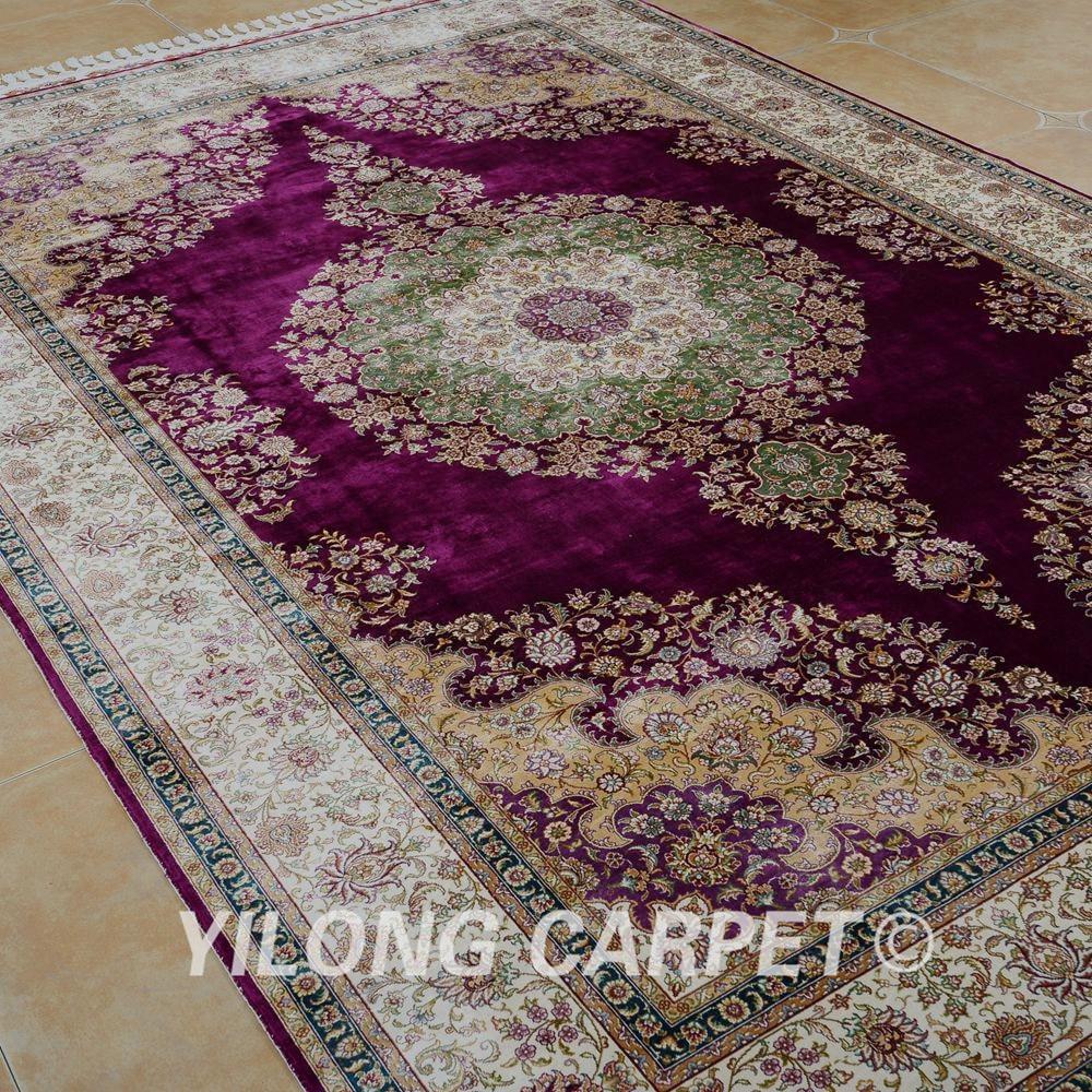 Yilong 6.56'x9.84 'на едро турски килим лилав - Домашен текстил - Снимка 3