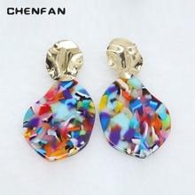 CHENFAN jewelry Fashion Earrings for Woman 2019 boucles ear woman rings acrylic earrings pendant geometric boho