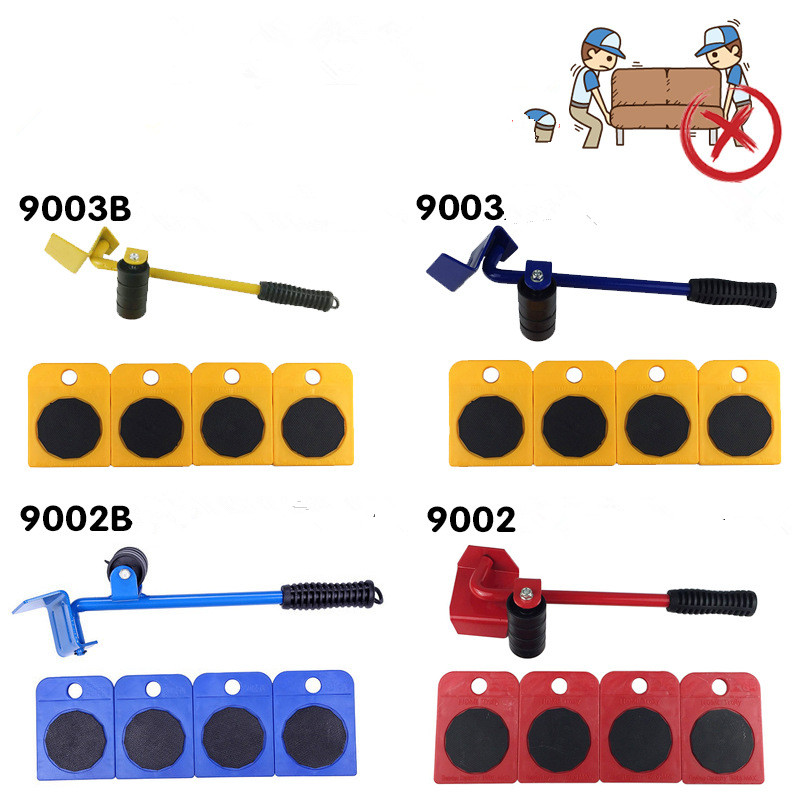 Multifunctional Universal Wheel Furniture Heavy Artifact Moving Tool Pulley Five-piece Set With Pinch Bar