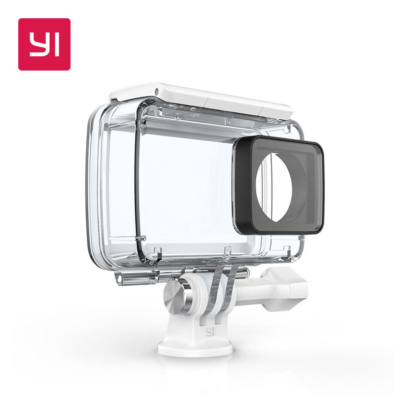YI Waterproof Case For YI Lite,4K and 4K Plus Action Camera 2 Up to 132 feet (40M) Underwater Sports Swimming Diving YI Official alloet 35m waterproof diving cover case for xiaomi yi 4k 2 ii camera underwater shooting touch screen protector housing case box