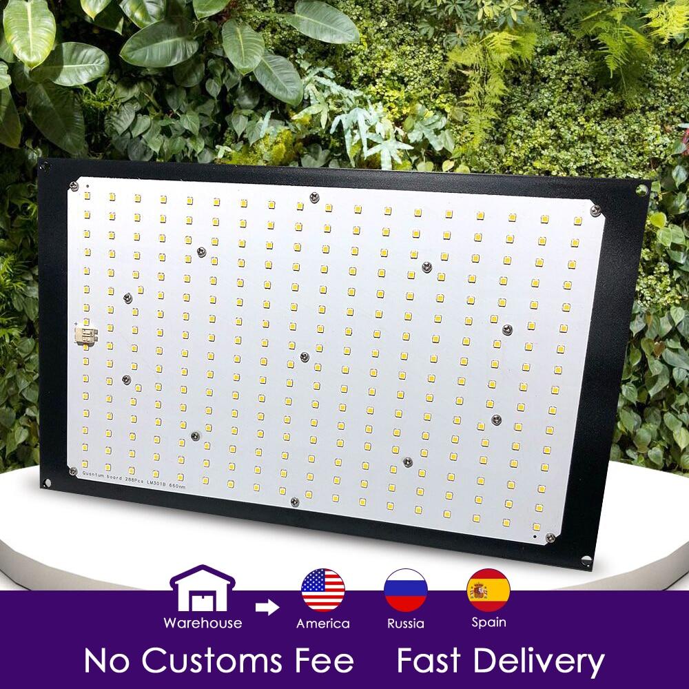 Tablero de luz Led de espectro completo Samsung lm301b QB288 3000 K/3500 K/4000 K/3000 K + 660nm controlador Meanwell 120 w/240 w piezas de bricolaje Espectro completo 300/600/800/900/1000/1200/1800/2000W LED Luz de cultivo 410-730nm para plantas de interior y tienda de cultivo de flores de invernadero