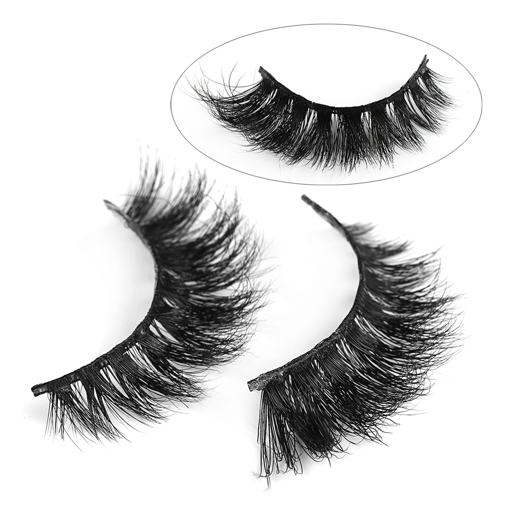964ad346e49 1 Pairs Fashion Luxury 3D Mink Hair False Eyelashes Extension Cross Thick  Natural Beauty Makeup Eye Lashes Tools #D103