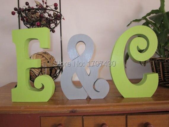 wood monogram letters