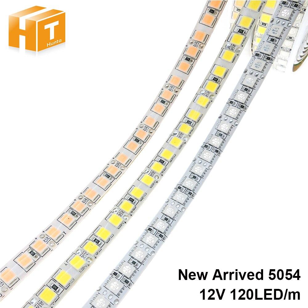 Светодиодная лента 5054 DC12V 120 светодиодов/м 5 м гибкий ленточный светильник теплый белый холодный белый ледяной, синий, розовый, RGB Светодиодная лента 5050 120LED/м.
