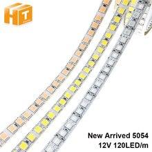 Tira de luz de led, fita flexível 5054 dc12v 120leds/m 5m branco quente frio azul rosa, tira de led rgb 5050 120led/m.