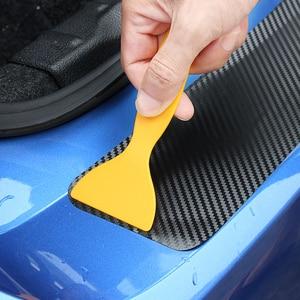 Image 4 - 90*8,8 cm Carbon Faser Auto Stamm Schutz Aufkleber Für Volkswagen VW Polo Passat B5 B6 B7 CC Golf 4 5 6 7 Touran T5 Tiguan Bora