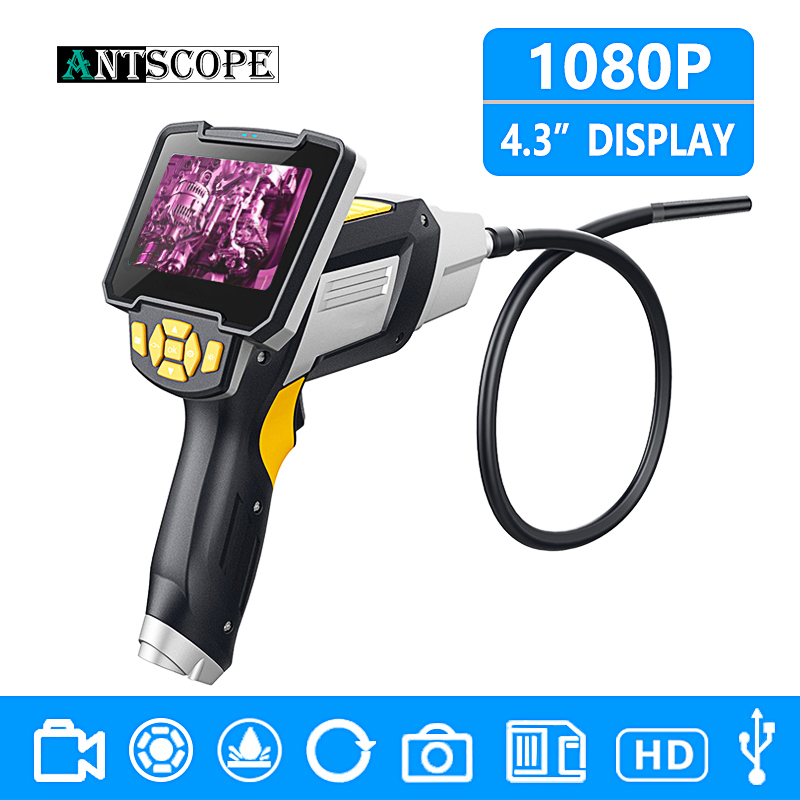 Antscope 1080P HD 8mm Industrial Endoscope 4 3 Inch Car Inspection Camera Handheld 1 3 5