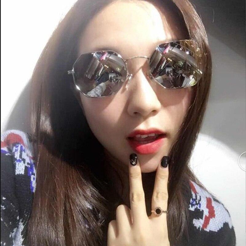 0b9c07f422 VazRobe 2018 Hexagon Sunglasses Women Men Brand Original Designer Small Sun  Glasses for Woman Vintage Hexagonal Female Mirrored-in Sunglasses from  Women s ...