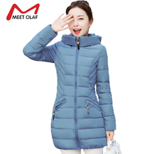 2017 New Hooded Women Winter Coats Female Winter Down Jackets Cotton Padded Parkas Autumn Outwear abrigos mujer invierno Y1488