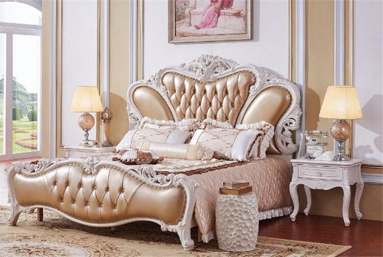 aliexpress koop koninklijke slaapkamer meubels massief houten