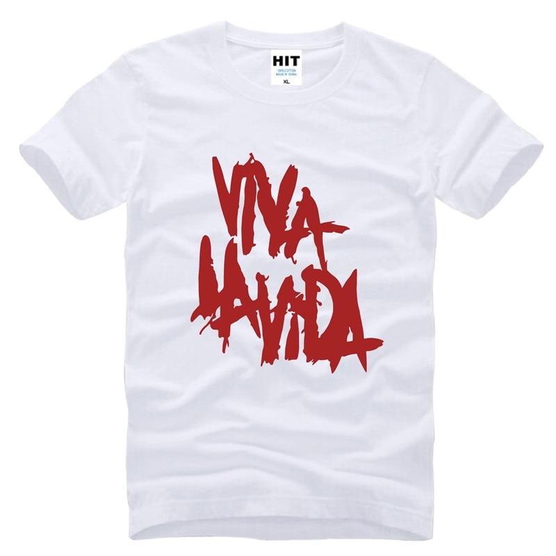 Rock coldplay Viva la vida lös T-shirt herr T-shirt för män 2015 - Herrkläder - Foto 4