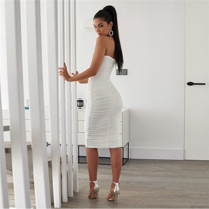 strapless midi bandage dress14