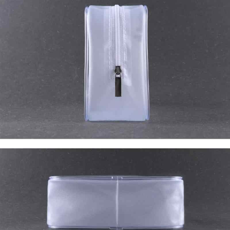 Di corsa Trasparente Sacchetto Cosmetico del PVC Delle Donne di Cerniera Chiaro Sacchetti di Trucco Caso Make Up Dell'organizzatore di Immagazzinaggio Bagno di Cortesia Sacchetto di Lavaggio