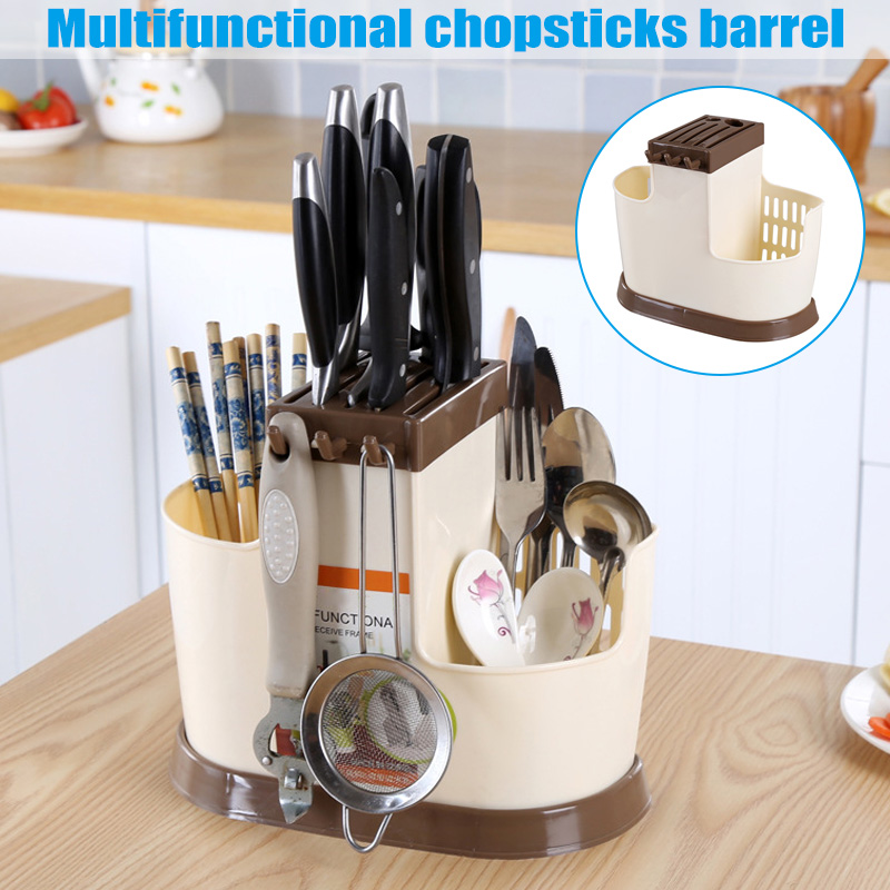 1 Pcs Storage Draining Rack Holder Organizer Drainer Drying For Spoon Chopsticks Fork LXY9 NO22