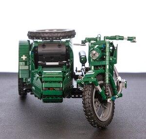 Image 3 - CaDA di Controllo Remoto Del Motociclo Arma Militare Seires Blocchi di Costruzione di Modello Technic Giocattoli Per Bambini del Regalo Dei Bambini con la Scatola originale