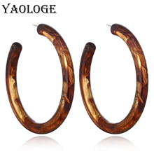YAOLOGE Classic Semicircle Acrylic Fashion Earrings Creative Geometry Personality Vintage Statement Jewelry For Female New