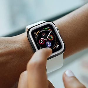 Image 4 - Модный Двухцветный силиконовый чехол для Apple Watch Series 1/2/3, чехол с рамкой, полная защита 42 мм, 38 мм, для i Watch 4, чехол 4