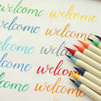 NEW 20 Colors Calligraphy Pens Soft Brush Marker Watercolor Brush Marker Graffiti Manga Drawing Art Marker Fineliner Pen