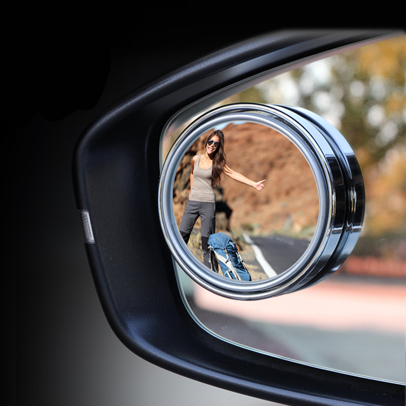 2x HD 360 Degree Rear View Parking Mirror For Toyota Corolla RAV4 <font><b>Camry</b></font> Prado Avensis Yaris Hilux Prius Land Cruiser image