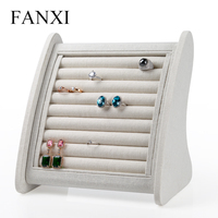 2016 wholesale or retial hot sell elegant and creative linen fabric display rack for earring or finger ring stand