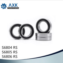 Bearings 6804 6805 6806 ( 1 PC) 440C Stainless Steel Rings With Si3N4 Ceramic Balls Bearing S6804 S6805 S6806