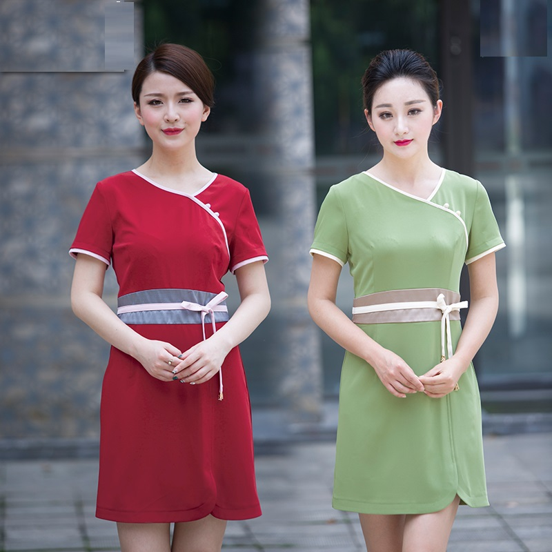 Clothing Club-Uniform Female Short-Sleeved Summer Wear Dress SPA Salon Beauty 10set/Lot