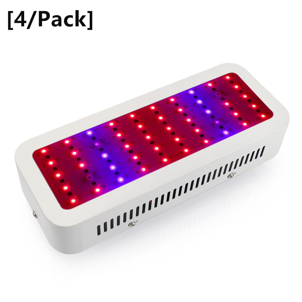 [4/Pack] 300W Led Grow Light Full Spectrum Led Plant Growth Lamp for Hydroponics Greenhouse Plant Flowering Growth High Yield 1pc led grow lights e27 15w 3 red 2 blue for flowering plant and hydroponics greenhouse led lamp full spectrum free shipping