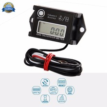 Free Shipping!Digital Resettable Waterproof Tiny Tach Hour Meter Gasoline Engine Tachometer induction