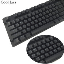 Cool Jazz Double-shot Black Thick PBT ANSI Korean layout 108 backlit Keycaps OEM Profile Keycap For MX Mechanical Keyboard недорого