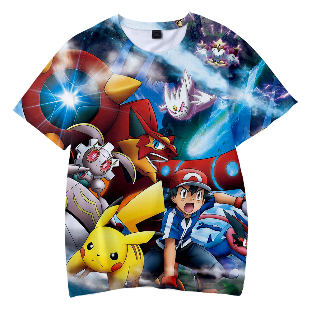 luckyfridayf-2019-new-fashion-font-b-pokemon-b-font-3d-print-anime-pikachu-children's-wear-boy-girl-kids-casual-t-shirt-short-sleeve-clothes