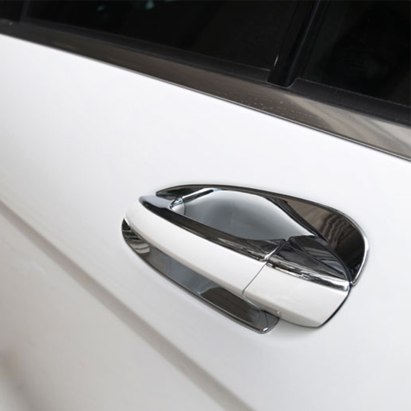 Chrome Door Handle Bowl Trim For Mercedes Benz ML/GL/GLE/GLK//GLS/C Class W204 X204 Car Accessories car organizer door handle storage container tray box accessories suit for mercedes benz 2013 2016 gla200 gla220 gla250 gla class