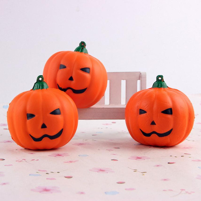 squash toy Halloween Soft Pumpkin Cartoon Squishy Slow Rising Squeeze Toy Phone Straps  toys for children          0815GJ