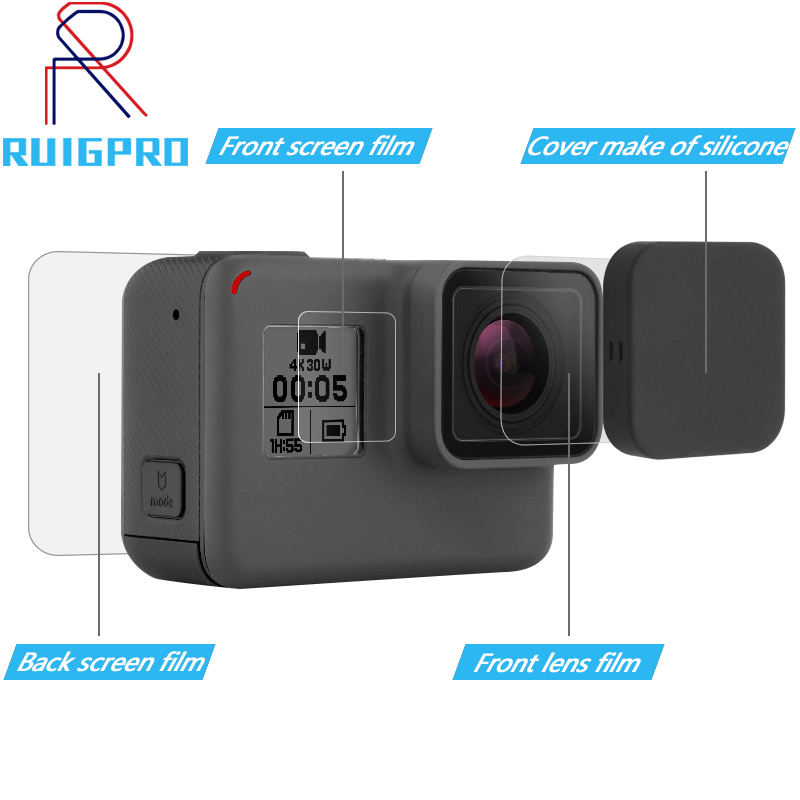 Camera Silicone Protective Frame Case Cover Shell for Gopro Hero 8 Accessories