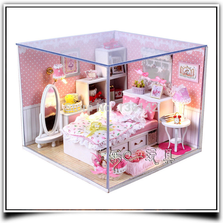 Aliexpress com   Buy Dream Angels M001 diy dollhouse miniature bedroom with  voice LED light wooden doll house furniture free shipping from Reliable  bedroom. Aliexpress com   Buy Dream Angels M001 diy dollhouse miniature