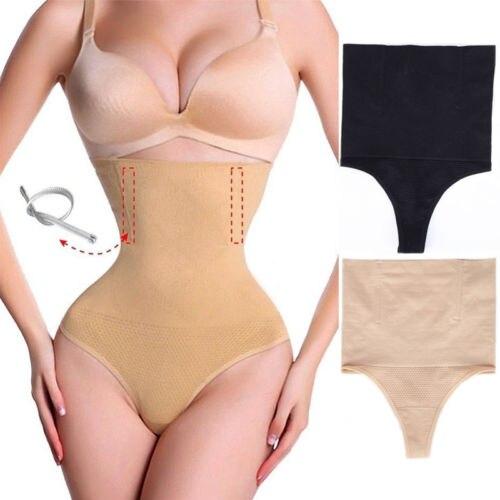 68f99d957ae4 Plus Size Women Body Shaper Control Slim Panties High Waist Black Skin  Color Women Panty Briefs Shapewear Underwear-in Control Panties from  Underwear ...
