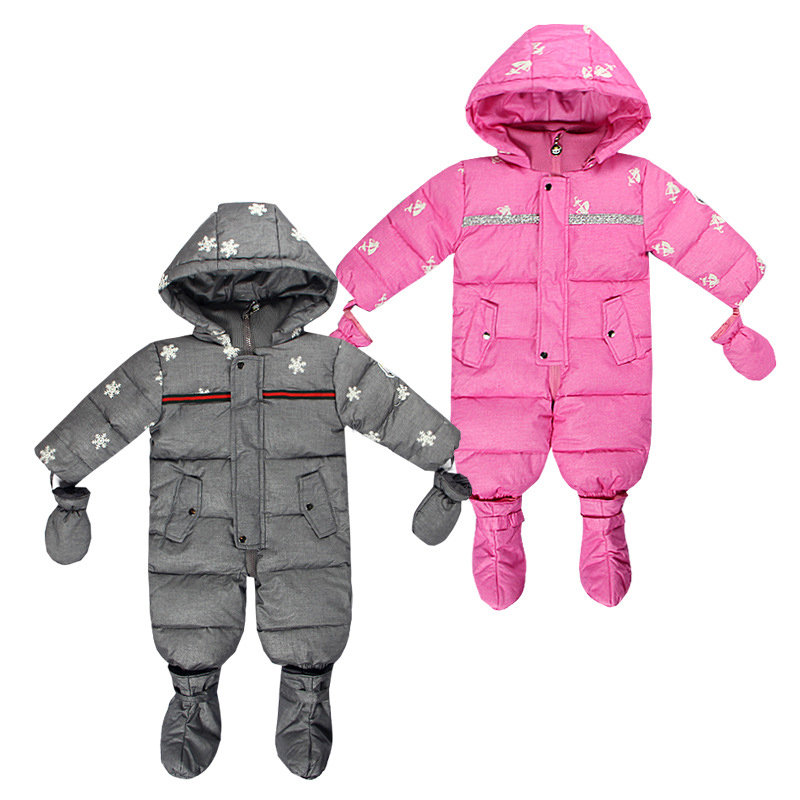 Baby Winter Rompers Duck Down Jumpsuit Kids Clothing Baby Clothes Snow Wear Boy Girl Snowsuit Thin Warm Coveralls Newborn Parkas