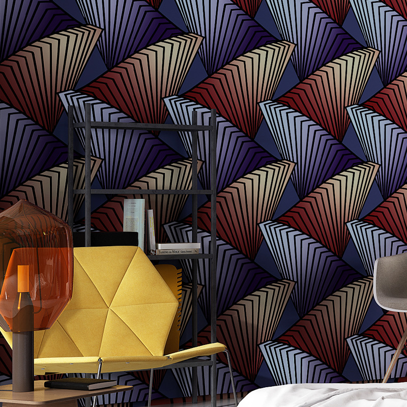 3d Vinyl Wallpaper Wall Coverings PVC Waterproof 0.53*10m Weaving Wallpaper Roll Vintage Wall Paper Kitchen Wall Decor Purple