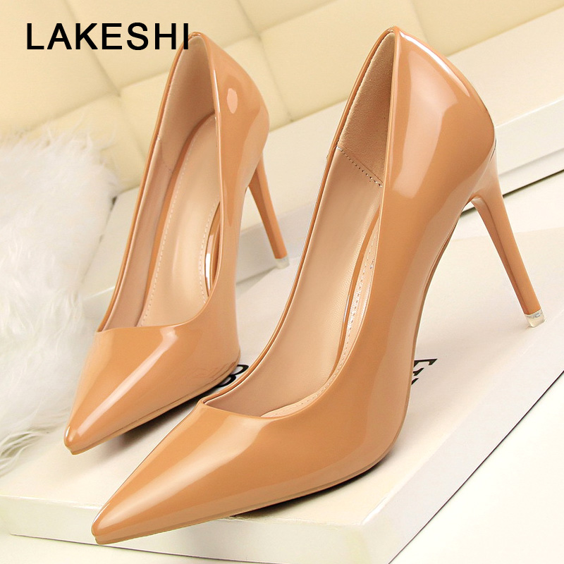 Women Pumps Sexy High Heels Office Heel Shoes Woman 2018 Summer Pumps Shoes Pointed Toe Fashion Word Shoes Famale 2016 summer high heels shoes pointed toe pumps women sexy office ladies fashion wedges platform shoes